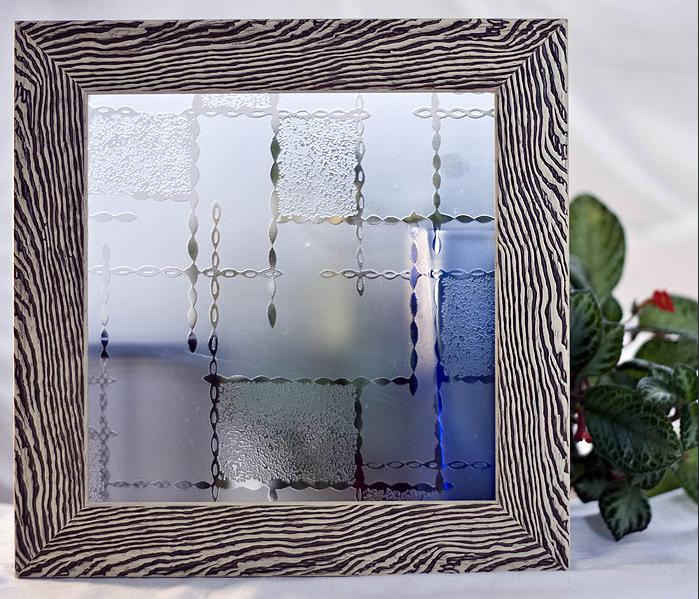 Орнаментно стъкло Дроб