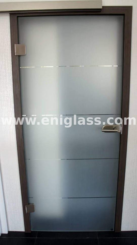 Закалена стъклена врата 1