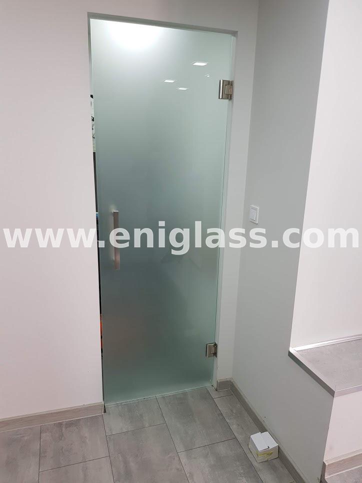Закалена стъклена врата 21