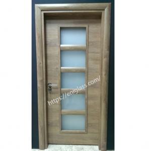 Интериорна врата Турска плътен HDF мат стъкло