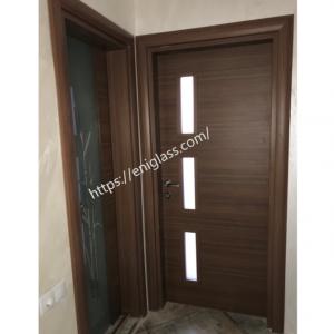 Интериорна врата Турска плътен HDF стъкла по проект на клиента