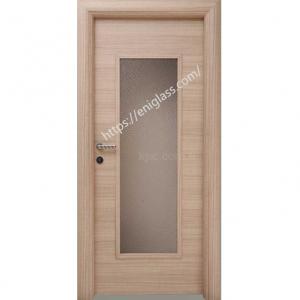 Интериорна врата Турска плътен HDF със стъкло