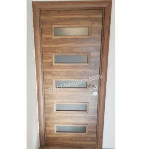 Интериорна врата Турска плътен HDF с остъкление