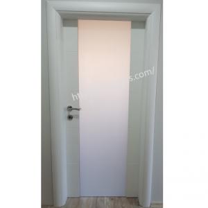 Интериорна врата Турска плътен HDF химичен мат триплекс стъкло