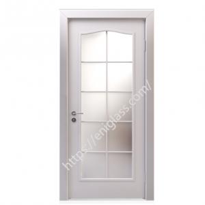 Интериорна врата стъкло мат бяла
