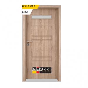 Интериорна врата Gradde Schwerin, модел 1, Дъб Вераде