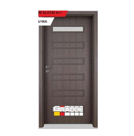 Интериорна врата Gradde Schwerin, модел 1, Череша Сан Диего