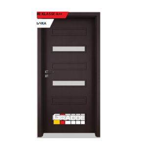 Интериорна врата Gradde Schwerin, модел 10, Орех Рибейра