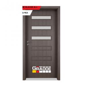 Интериорна врата Gradde Schwerin, модел 4, Череша Сан Диего
