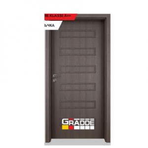 Интериорна врата Gradde Schwerin, модел Full, Череша Сан Диего