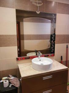 огледало шарка мат и рамка от кафяво огледало