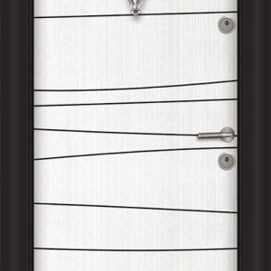 Входна блиндирана врата SL 206 бяла перла