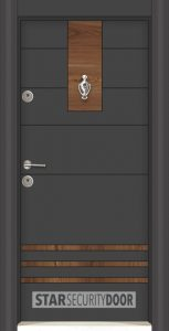 L 302 Антрасит сарухан врата блиндирана