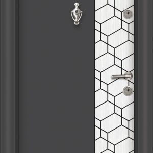 L 307 Антрасит бяла перла блиндирана врата