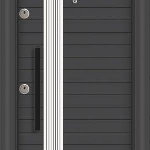 L 5372 Антрасит бял блиндирана врата