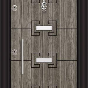 L 5402 Думан инокс врата лукс