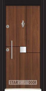 L 5412 Металик орех златен дъб входна врата
