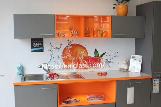 принт стъкла с портокали