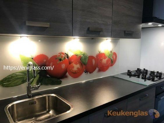 принт стъкло с домати